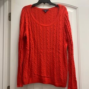 American Eagle women's Red crew neck sweater XL.